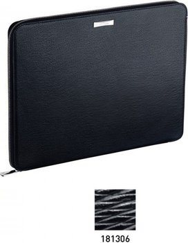 Line D Zippered Conference Pad – Black Contraste