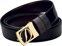 Line D Belt Business Reversible D Gold